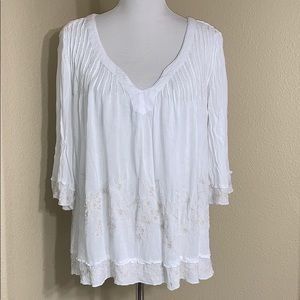 O'Neil Embroidered Blouse Size Medium